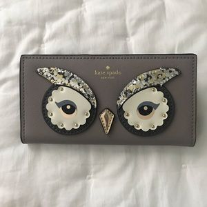 Kate Spade Owl Stacy Star Bright Wallet NWT